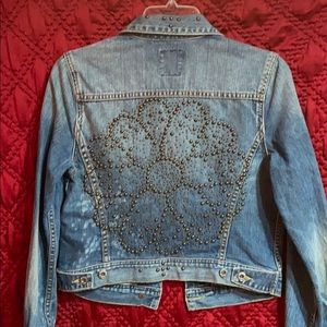 Lucky Brand rare studded embellished Jean jacket